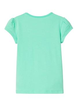 T-Shirt Name It Hapina Vert pour Fille