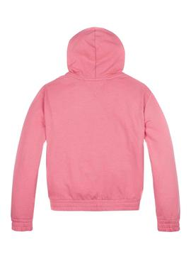 Sweat Tommy Hilfiger Essential Rose pour Fille