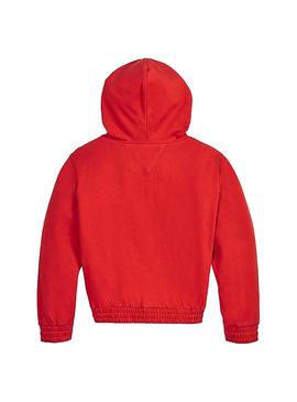 Sweat Tommy Hilfiger essential hooded Rouge Fille