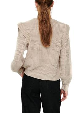 Pull Only Lexine Beige pour Femme
