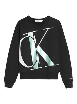 Sweat Calvin Klein Jeans Exploded Noir Fille