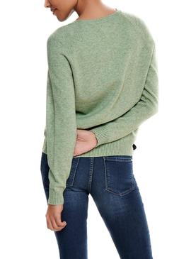Pull Only Lesly Kings Vert pour Femme