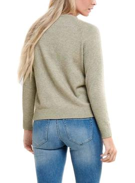 Pull Only Lesly Kings Beige pour Femme