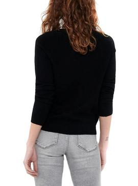 Pull Only Lesly Kings Noir pour Femme