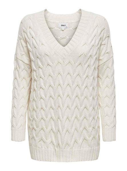 Pull Only Bina Blanc pour Femme
