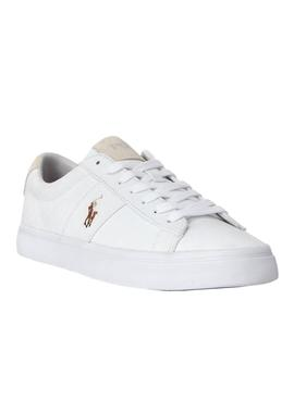 Baskets Polo Ralph Lauren Canvas Blanc Homme