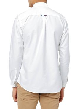 Chemise Tommy Jeans Oxford Blanc Pour Hommes