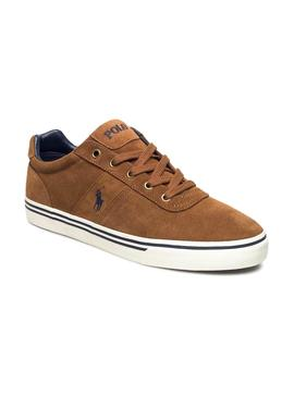 Baskets Polo Ralph Lauren Hanford brun Homme
