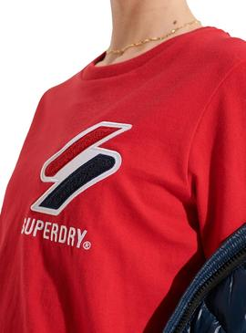 T-Shirt Superdry Sportstyle Rouge pour Femme