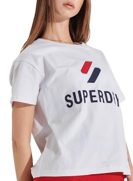 T-Shirt Superdry Sportstyle Classic Blanc Femme