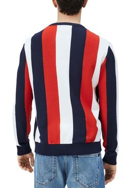 Pull Pepe Jeans Michael Rouge pour Homme