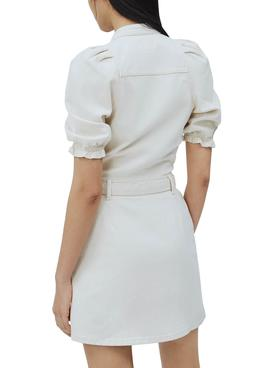 Robe Pepe Jeans Dory Blanc pour Femme