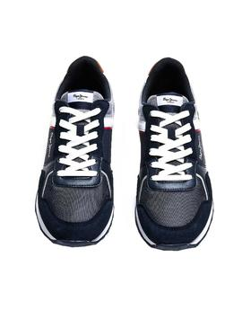Baskets Pepe Jeans Cross 4 Tech Bleu marine Homme