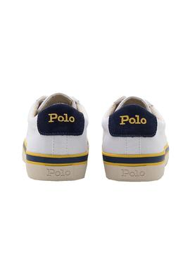 Baskets Polo Ralph Lauren Toile Blanc Homme