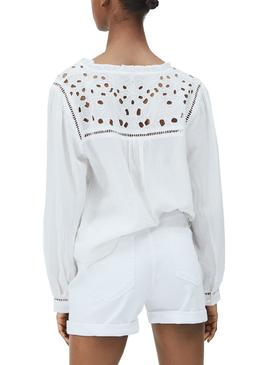 Chemise Pepe Jeans Carina Blanc pour Femme