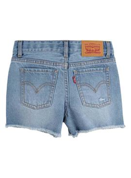 Short Levis Girlfriend Shorty Bleu pour Fille