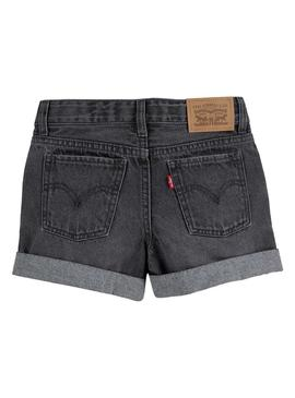 Short Levis Girlfriend Gris pour Fille