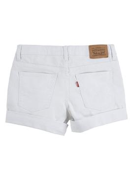 Short Levis Girlfriend Blanc pour Fille