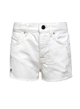 Short Pepe Jeans Patty Blanc pour Fille