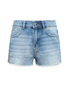 Short Pepe Jeans Patty Bleu pour Fille