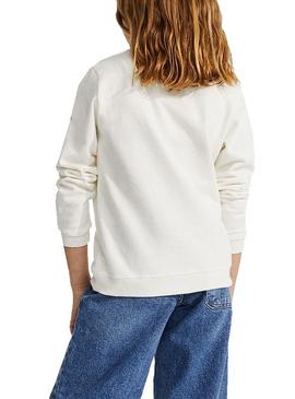 Sweat Ecoalf Childhood Blanc pour Fille