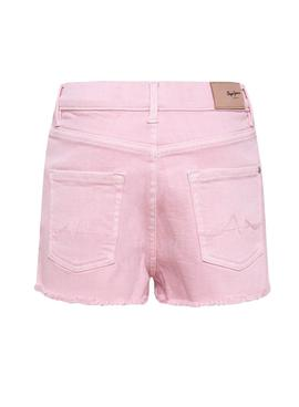 Short Pepe Jeans Patty Rosa pour Fille
