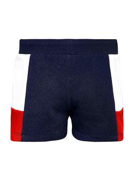 Short Tommy Hilfiger Colorblock Bleu marine Fille