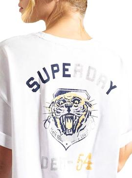 T-Shirt Superdry Military Blanc Femme
