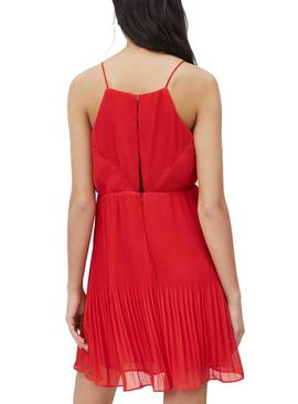 Robe Pepe Jeans Mine Rouge pour Femme